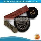 Colorfast well made custom metal clothing labels