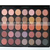 Private label cheap 35 color makeup eyeshadow palette,glitter mineral