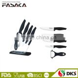 KC1310 Set of 6pcs Black Handle Ceramic knives with Ceramic Peeler and Hight quality ceramic kitchen knife set
