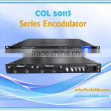 COL5011S video ip encoder decoder, dvb-t/dvb-c/isdb-t encoder modulator