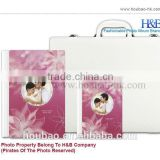 H&B 8*12 pink painting flower deisgn wedding pictures album