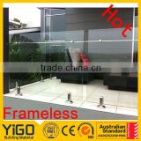 frameless glass stair railing or semi frameless glass balustrade                                                                         Quality Choice