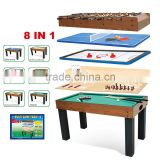 Adult 1.4 meters eight in one billiard table football table tennis table chess table air hockey