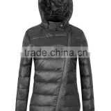 men and women's new fashion locomotive high quality waterproof inclined zipper hoody down short coat