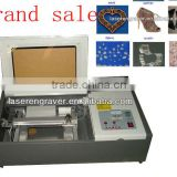 Dw40 Distributor wanted advertising arts crafts wood acrylic leather paper textile stamp making laser machine small engraving