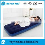 Hot sell flocking pvc inflatable sofa air bed for bedroom, home furniture inflatable mattress