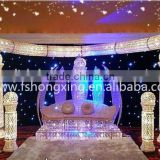 Hot sale indian wedding mandap pillar decoration for wedding decoration with shinning light