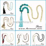 Various Design Colorful Beads Bohemia Style Wholesale tassel necklace jewelry Natural Stone beads