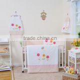 100% cotton fabric lovely baby crib cot bedding set /classic design