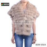 Fashion Lady's Cashmere Fur Coat, Women Alpaca Fur Poncho Coat