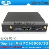 2G RAM 8G SSD Battery Powered Mini PC Partaker N390B 2 Ethernet Mini PC with Desktop Mini PC CPU support HDD Bluetooth