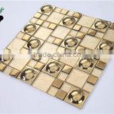 SMG03 Modern Design mosaic Electroplating glass tile glass mosaic gold mosaic