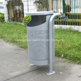 Perforated steel outdoor litter bin metal garbage can/garbage bin