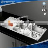 Advanced Germany machines factory directly triangle double handle kitchen faucet basin tap/mixer