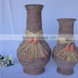 cheap large outdoor decorative terracotta flower vase pottery clay vase garden decoration
