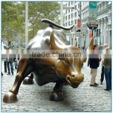 Large Brass Animal Statue Wall Street Bull Statue Outdoor Decor