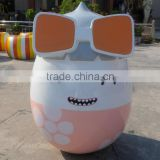 Fiberglass big egg cartoon statue for amusement park decoration