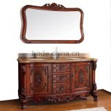 American Style Luxury Hand Carved Wooden Bathroom Cabinet, Classic Antique Solid Wood Bathroom Furniture BF12-05184a