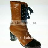 9 inch Ceramic vase women fashion boots 2012