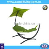 green hanging hammock swing bed outdoor with free stand and canopy