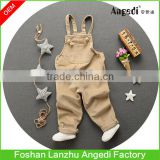 Baby's autumn &winter apparel corduroy overalls in solid color toddlers's soft & comfortable lovely dungaree