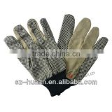 good quality Safety Dots palm knitted Cotton Work Gloves
