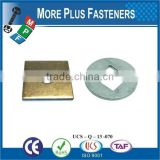 Taiwan Stainless Steel 18-8 Copper Brass Aluminum Brass Square Washer Threaded Square Washer Square Hole Washer