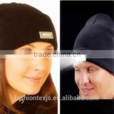 High quanlity LED knitted caps Winter night walk hands free beanie woolen yarn hat with LED light