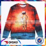 OEM dye sublimation long sleeve colorful high quality sport t shirt
