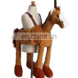 Party ride on cloth for kids plush horse shape ride on plush costume