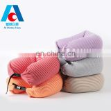 New Design U Shape Micro Bead Pillow with String Long Pillow Multifunctional Travel Pillow Neck Lumbar Support