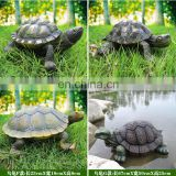 Resin figurine tortoise on the grass sculpture animal carving