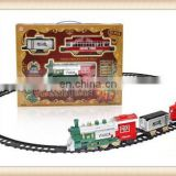 Hot sell plastic b/o railway train electric railway toy