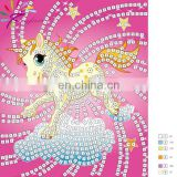 2015 new design DIY toy set mosaic sticker art set for kids-unicorn