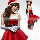 girl women Revealing Keyhole Sexy Clubwear red christmas costume dress