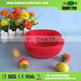 4pcs square red plastic stackable bowl set
