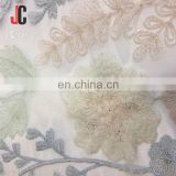 wholesale good quality plain embroidery textile polyester fabric for lady dress