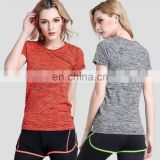 Quick-drying sport short sleeves breathable colorful T-shirt Fitness & Yoga Wear