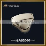 Hot Sell Metal Briefcase Locks, Custom Gentlemen Briefcase Push Locks, Plated Metal Lock For Briefcase