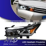 AKD Car Styling for Toyota Corolla LED Headlights A-Type 2014-2015 Altis LED Head Lamp Projector Bi Xenon Hid H7