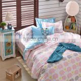 High quality 100% Cotton animal printed cartoon bedding sets kids queen size bed sheets