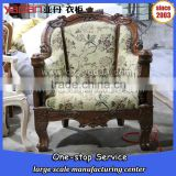 single seater handmade carving sofa chairs home furniture fabric for wooden sofa                                                                         Quality Choice