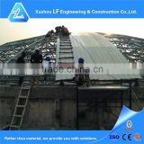 High level light space frame steel structure function hall design