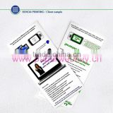 2014 christmas gift paper usb webkey china supplier, pop up customer's websites paper webkey brochure