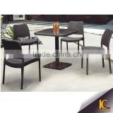 Hot sales synthetic rattan leisure outdoor furniture coffee table set