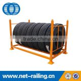 The tire racks for warehouse storage