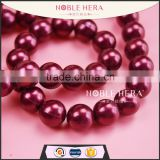 Wholesale 10mm artificial Plastic string Pearl with hole for Jewelry Accessory