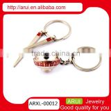 cute couple keychain red couple tableware keychain