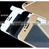 Mobile 3D full cover clear gold screen protector glass for iphone 5G                                                                                                         Supplier's Choice
