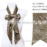 2016 young girl's cloting leopard printing long neck tie small size scarf